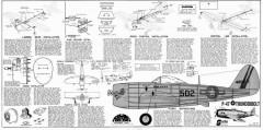 P-47 Thunderbolt Sterling model airplane plan