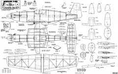 P-51B 2 model airplane plan