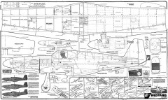 P-51B 60 top flite model airplane plan