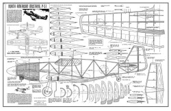 P-51A Mustang model airplane plan