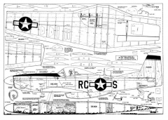 P-51 Burgass model airplane plan