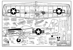 P-51 Mustang model airplane plan