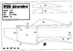 P39-1 model airplane plan