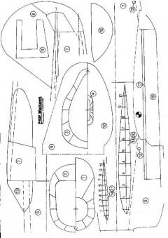 P40 model airplane plan