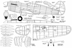 P40D model airplane plan