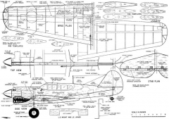 P40 Combat model airplane plan