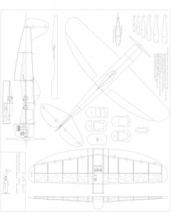 P47D Combat Model 1 model airplane plan