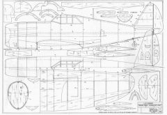 P47D Thunderbolt model airplane plan