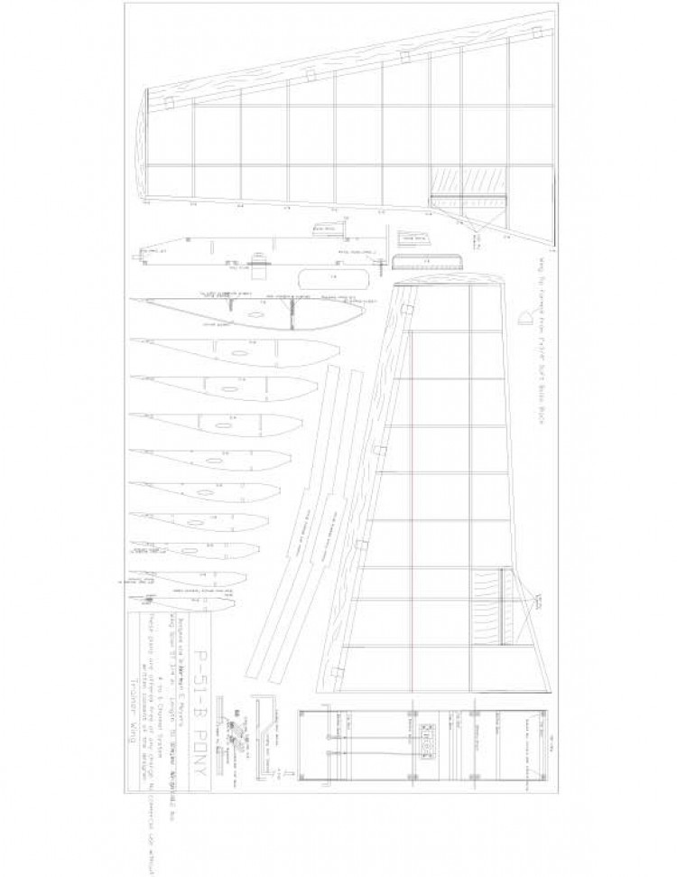 P51B Pony 3 Model 1 model airplane plan