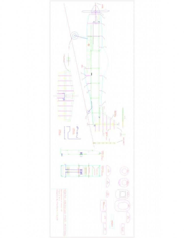 P51D 2 Model 1 model airplane plan