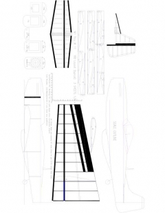 P51 Model 1 model airplane plan