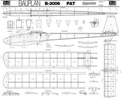 PAT Revell B-3006 glider model airplane plan