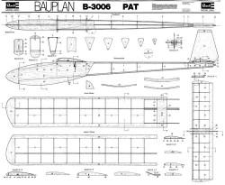 PAT B-3006 model airplane plan