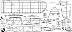 PB-2 2 model airplane plan