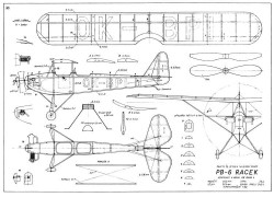 PB-6 Racek 20in model airplane plan