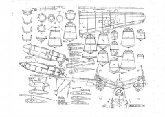 PBM-5 Mariner model airplane plan