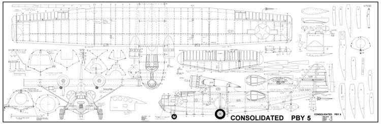 Consolidated PBY-5A Catalina model airplane plan