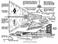 PLNSkiDart model airplane plan