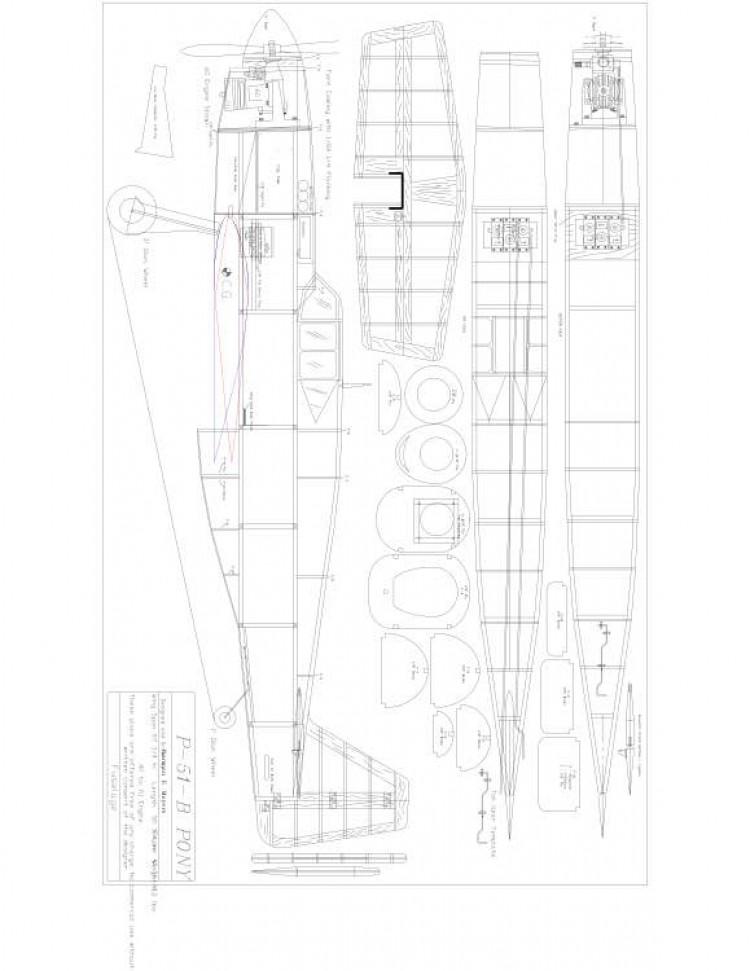 PONY-FUS Model 1 model airplane plan