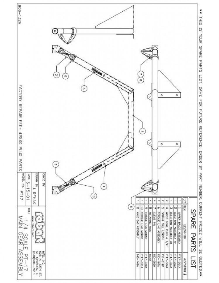 PT17SP model airplane plan