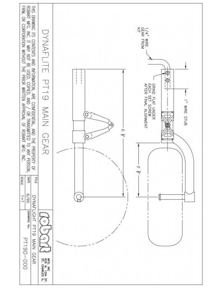 PT19D model airplane plan
