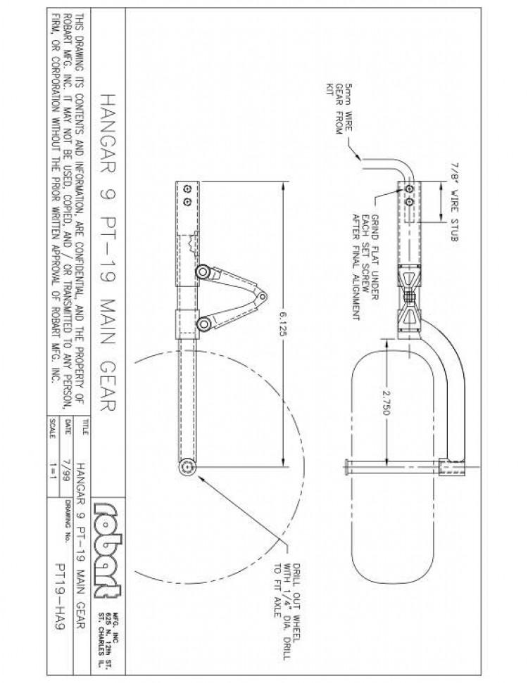 PT19H model airplane plan