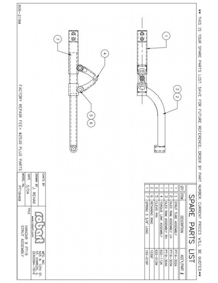 PT19HA9SP model airplane plan