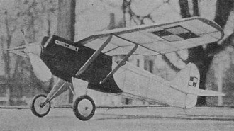 PZL-1 model airplane plan