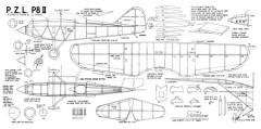 P.Z.L. P8/II model airplane plan