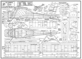 PZL Wilga 35 model airplane plan