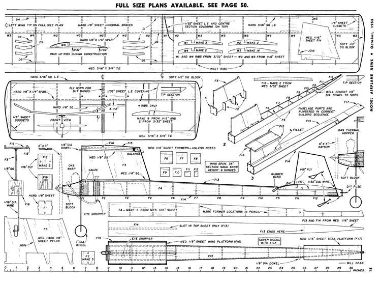 Paddy's Wagon model airplane plan