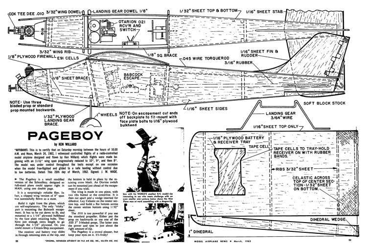Pageboy-MAN-03-63 model airplane plan