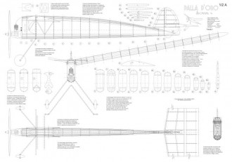 Palla d'Oro model airplane plan