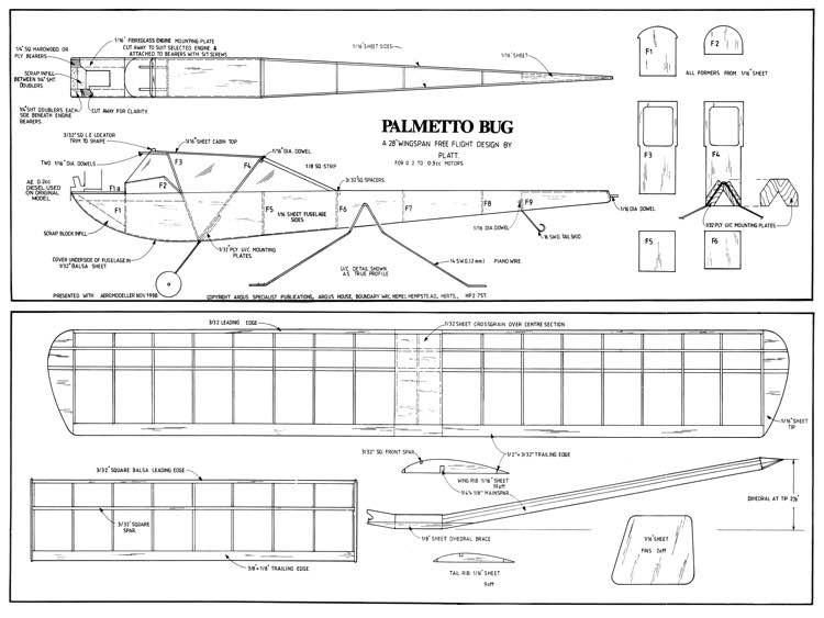 Palmetto Bug model airplane plan