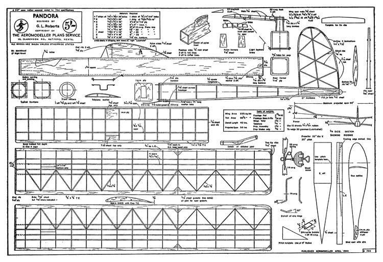 Pandora model airplane plan
