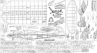 Panther peerless 46in model airplane plan
