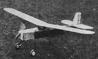 Parasol model airplane plan