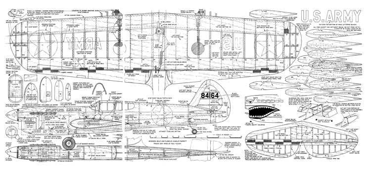 Parrot P-40 Stunter model airplane plan