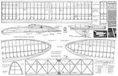 Pasadena 76in model airplane plan