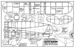 Pasped Skylark pseudo dime model airplane plan