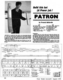 Patron model airplane plan