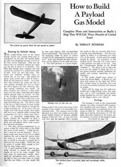Payload Petrides model airplane plan