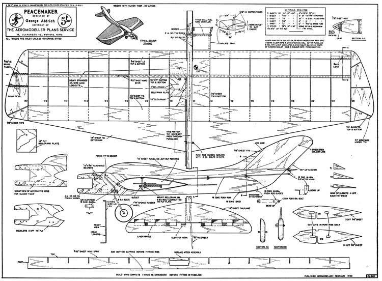 Peacemaker model airplane plan