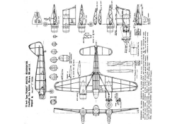 Peanut Beaufighter model airplane plan