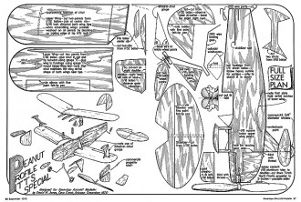 Peanut Profile Pitts Special-AAM-09-72 model airplane plan