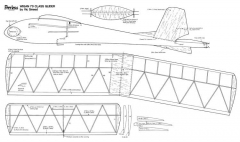 Peerless glider model airplane plan
