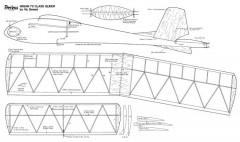 Peerless glider model airplane plan
