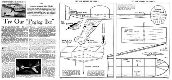 PeglegIke model airplane plan