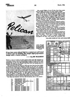 Pelican model airplane plan