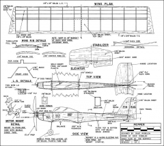 Pepper 22in model airplane plan